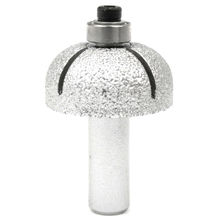 R15 Brazed Diamond Profile Wheel 37mm BALL ROUND NOSE Router Bit With Bearing Routing Stone Coarse Grit 60 Marble Granite Rock