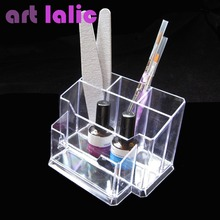 Nail Art Tools Display Holder Box Files Brushes Organizer Polish Plastic Case Makeup Tool Stand New Artlalic
