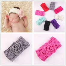 newborn Turban Ear Winter Warm Headband Crochet Knitted Hairband Headwrap Hair Band Accessories for pink Girl Kid accessories