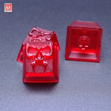 Russian Loves Anime Skull Gaming Mechanical Keyboard handcraft Key Cap Suitable Multimedia for Cherry MX Keys R4 Esc PBT Keycaps(China)