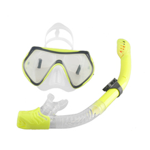 New Scuba Diving Mask Snorkel Anti-Fog Goggles Glasses Set Silicone Swimming Fishing Pool Equipment 6 Color(China)