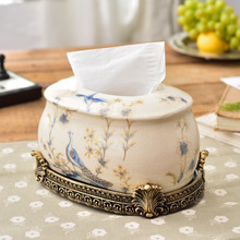 Manufacturers selling creative new Chinese ceramic Home Furnishing decor paper towel box ornaments luxury box(China)