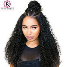 180% Density Full Lace Wig With Baby Hair Deep Wave Brazilian Pre Plucked Human Hair Wigs For Black Women Rosa Queen Remy(China)