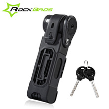 Rockbros Bike Lock Anti-cut Safety MTB Folding Bike Lock Professional Anti-theft Alloy Steel Bicycle Key Lock Cycle Accessories