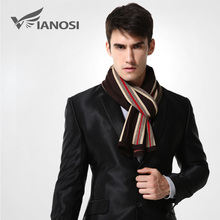 [VIANOSI] Brand Design Striped Scarf Men Wool Scarves Winter Warm Luxury Shawl Wrap Man Business Scarf  MA007