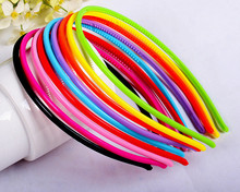 New Arrival Wholesale Cutie 4mm Candy Color Plastic Baby Headbands DIY Craft Hairbands 50pcs/lot Headwear Accessories DS09-b(China)