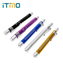 ITimo Mini LED Flashlight For Doctor Nurse Powerful First Aid Torch Lamp Medical Pen Light Emergency Camping Light Portable