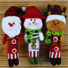 Christmas Hanging Xmas Decoration Claus Snowman Reindeer Wall Tree Door Decor Christmas Ornament Supplies wholesale GI880430