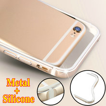 Brand 2017 Aluminum Bumper + Soft Silicone Cover For Apple iPhone 6 6s iPhone6s 7 X Luxury Metal for iPhone 8 / 6s Plus Case(China)