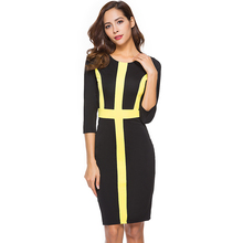 Buy Berydress Work Office Dress Autumn Winter Vestido De Festa 3/4 Sleeves Bodycon Pencil Business Party Women Dresses Elegant 2017 for $15.11 in AliExpress store
