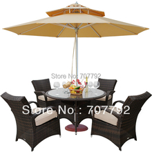 Outdoor Wicker Patio Furniture New Resin 5 Pc Dining Table Set with 4 Chairs