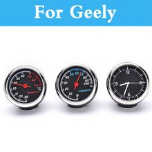 Car Thermometer Hygrometer Mechanical Round Quartz Clock Hygrometer For Geely Fc (Vision) Mk Mk Cross Mr Otaka Auto Decoration(China)
