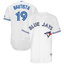 MLB Men's Toronto Blue Jays Jose Bautista Baseball White Authentic Home Jersey(China)