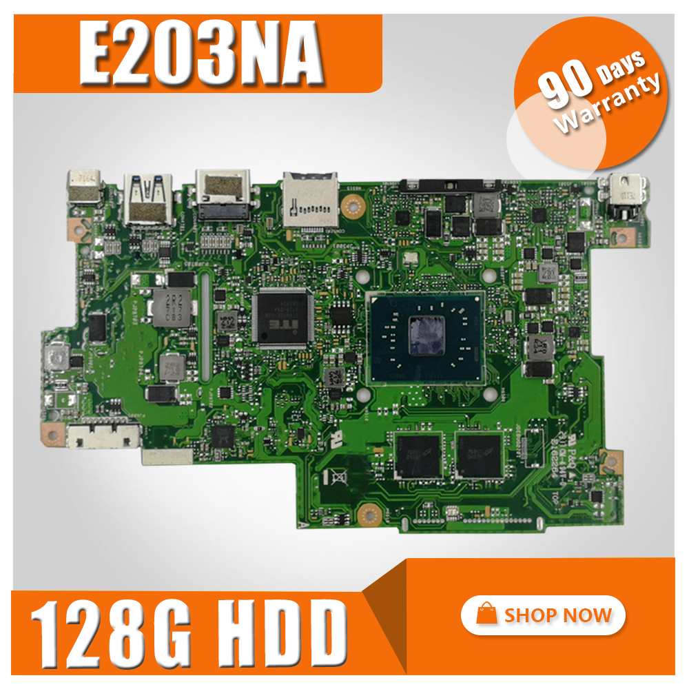with 4G RAM +128G HDD E203NA Motherboard For ASUS E203N E203NA Notebook notebook E203NA motherboard mainboard