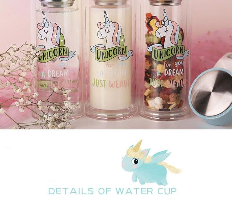Double Wall Glass Water Bottle 12