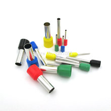 50PCS/LOT E10-20 Tube insulating Insulated terminals 10MM2 Cable Wire Connector Insulating Crimp Terminal Connector VE10-20(China)