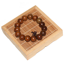Fashion Square Bamboo Jewelry Holder Show Rack Bracelet Display Stand Wood