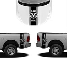 Car Styling for 3X DODGE HOOD FENDER DECALS RAM HEMI 1500 2500 graphics vinyl body stickers