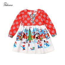 Toddler Baby Infant Girls Christmas Dresses Floral Long Sleeve Fancy Kids Dress Autumn Clothes