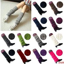 Women Lady Knee High Socks Knit Crochet Winter Warmer Leggings Gloves Boot Cover
