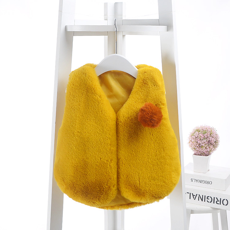 0 24 Month Winter Girls Vest Waistcoat Autumn Baby Children Fur Vest Girls Imitation Coat Kids Fashion Clothes Vest Waistcoat