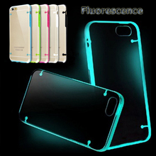 Ultra Thin Transparent Clear Case Novelty Luminous Cover for iphone 6 6s 6 plus Candy Color Fluorescence TPU Rubber Back Case