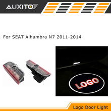 2X Canbus LED Car door logo welcome light ghost shadow PROJECTION EMBLEM Lights For SEAT Alhambra N7 2011 2012 2013 2014