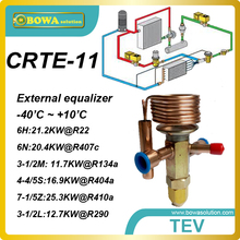 CRTE-11 R134a 3TR external equalizer TEV with solder connection designed for a wide range of coolant equipment applications.