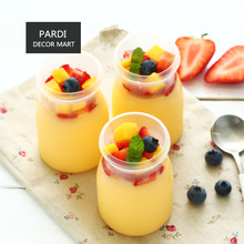 Good brand quality Plastic mini bottle with lid pudding bottle milk bottle yogurt bottle Mousse Tray 1set/lot(China)