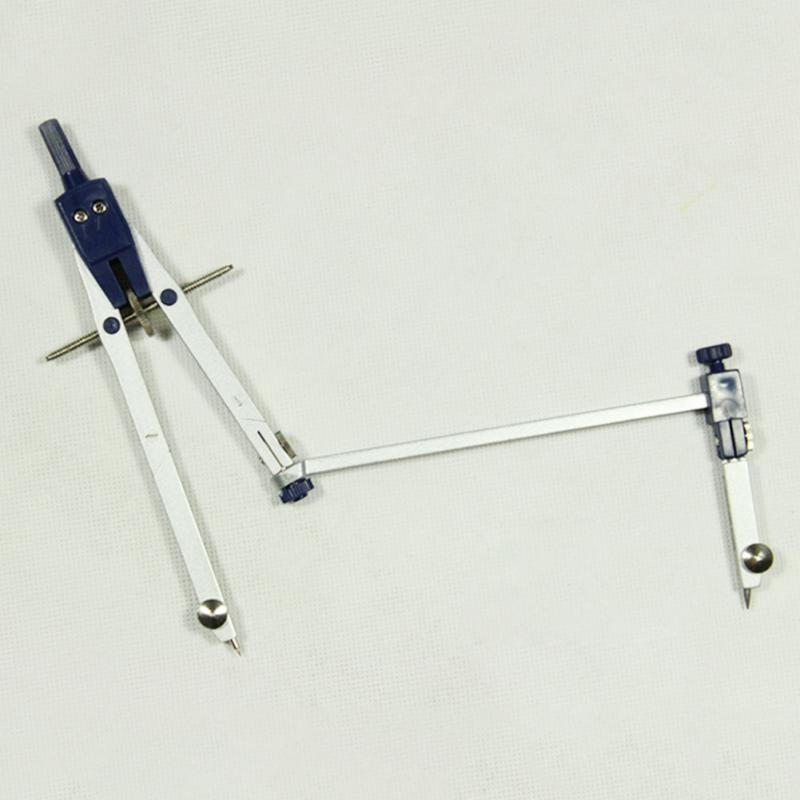Professional Drawing Drafting Spring Compass Set Technical Precision School Trimmability Compasses With Long Rod 6