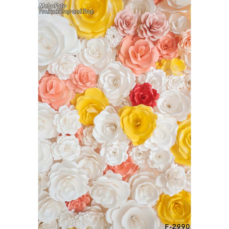 Printed Background Art Fabric Newborn Backdrop Studio/Photography Props Flowers F-2990<br><br>Aliexpress
