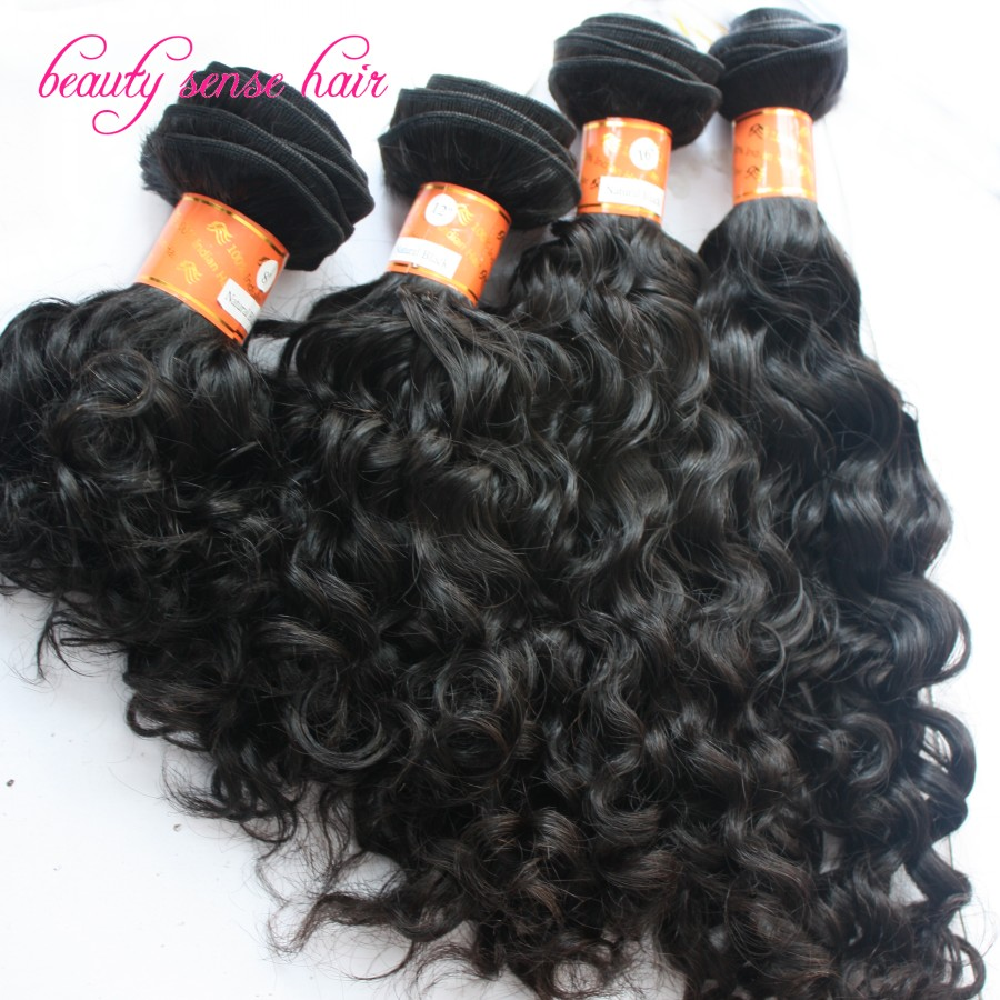 High grade virgin Indian Curly hair weaving 4 pcs/lot Human hair Weave Bundles 100% virgin Indian hair extensions free shipping<br><br>Aliexpress
