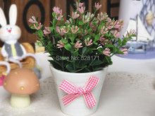 Free shipping cheap artificial christmas flower bonsai decoration,church flower decoration
