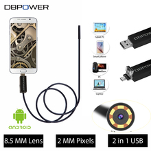 DBPOWER HD 2 in 1 Video USB Endoscope 10M/5M/2M 8.5MM Lens for Android Mobile and Laptop  Waterproof 6LED Borescope Snake Camera