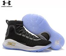 Athletic Under Armour New Arrival UA Men's Curry 4 Sport Basketball Sneakers Outdoor Medium Top Unique Socks Design Shoes 40-46