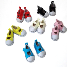 5cm Casual Canvas Shoes Doll Boots Mini Toy Shoes 1/6 for BJD Doll Shoes for Barbie Fashion Dolls Accessories