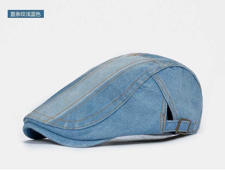 92600bb1912c Male Denim Ivy Hat Men Wash old Peaked Cap Fashion Newsboy Caps Women  Casual Beret Hats - us268