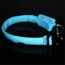 2017 Pets Dog Safety Collar Leads LED Nylon Light-up Flashing Leash Glow Small Scale 18-28cm New(China)