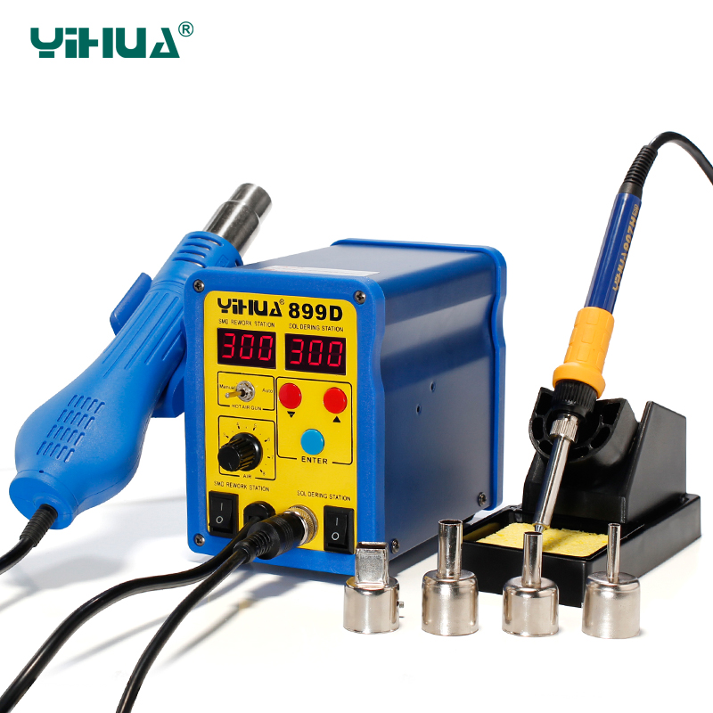 YIHUA 899D SMD Rework StationTemperature Controlled Air Soldering Station Welding Machine For Solder<br><br>Aliexpress