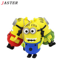 JASTER minions usb flash drive Cute Despicable Me 2 pendrive USB 2.0 Pen Drive 4gb 8gb 16gb 32 gb Memory stick gift thumb drive