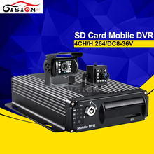 free shipping vehicle mobile dvr,4ch sd card video bus recorder, Motion Detection,g-sensor, playback car dvr kits