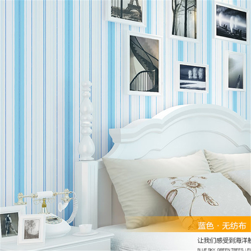 beibehang Mediterranean warm bedroom living room wall background wall TV fringe environmental protection non-woven wallpaper<br>