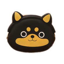 2pcs/lot small girl animal cute silicone purse coin bag Cartoon Silicone Key Wallet Earphone Organizer Storage Box Coin Purses