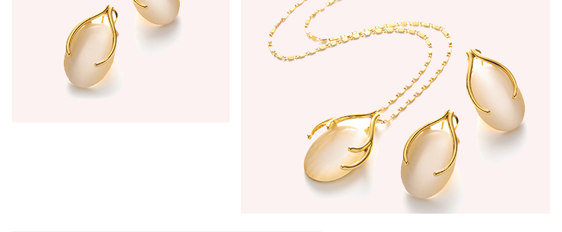 AYAYOO Opal African Beads Jewelry Set For Women Wedding Yellow Gold Color Statement Necklace Set Indian Bridal Jewelry Sets (3)