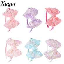 Pretty Hair Accessories Candy Colors Boutique Rhinestones Hair Bands For Sweet Children Baby Girl Kids