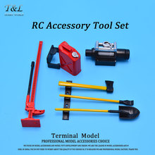 1/10  RC Rock Crawler Tools Kit  RC Accessory Tool Set Mini Fuel Tank Winch Pry For D90 Axial Wraith Axial SCX10