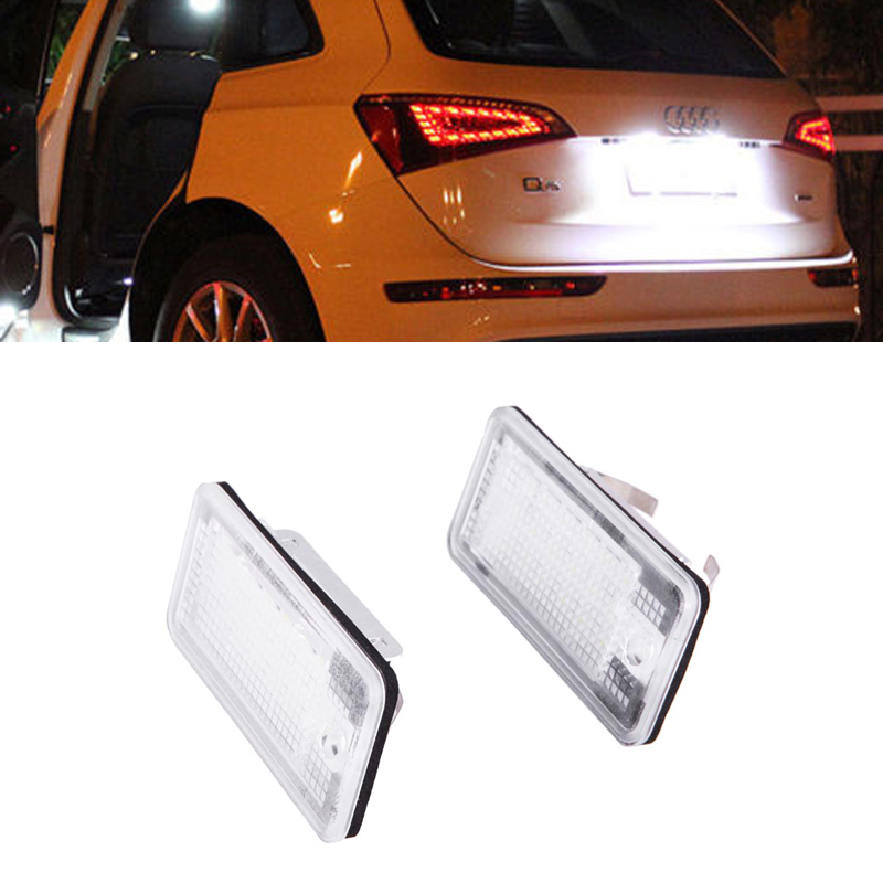 Emark Car styling Free Error LED White super bright LED number plate light For Q7 A4 S4 B6 A3 S3 A8 S8 D3 A3 Cabriolet A6 C6 S6<br><br>Aliexpress