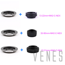 Buy M42 Lens Adjustable Focusing Helicoid Macro Tube Adapter 13-22mm/35-90mm/17-31mm + Lens Adapte M42 /C Mount Lens NEX camera for $24.61 in AliExpress store