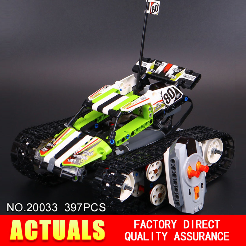 New Lepin 20033 397pcs Technic Series Remote control caterpillar vehicles Building Blocks Bricks Educational Toys with 42065<br><br>Aliexpress