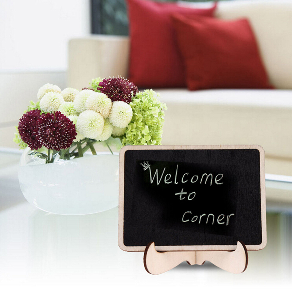 Best Selling Mini Blackboard Wooden Rectangle Shape Board Wedding Party Table Decor Small Chalkboard Message Notice Number Tag